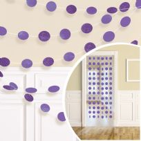 Purple Glitter String Decorations (6)